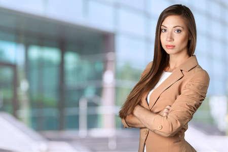 pretty hair: Businesswoman. Stock Photo