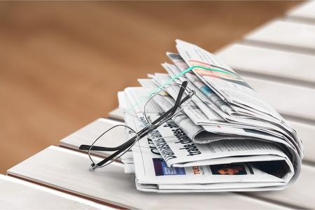 article writing: Newspaper. Stock Photo