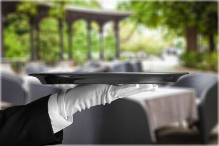 butler: Service. Stock Photo