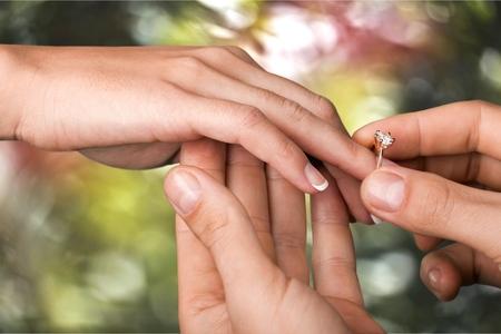propose: Ring. Stock Photo