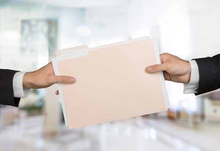 hand paper: File. Stock Photo