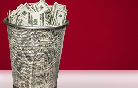 money to burn: Garbage.