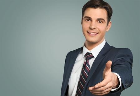 business in hand: Handshake. Stock Photo