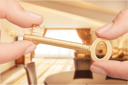 locking up: Key. Stock Photo