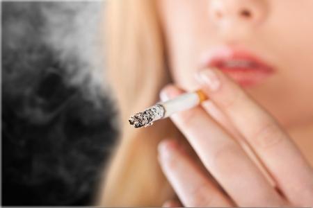 rudeness: Smoking. Stock Photo