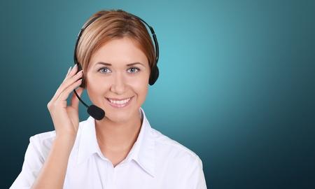 Centre d'appel. Banque d'images