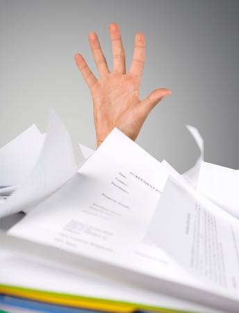conquering adversity: Paperwork.