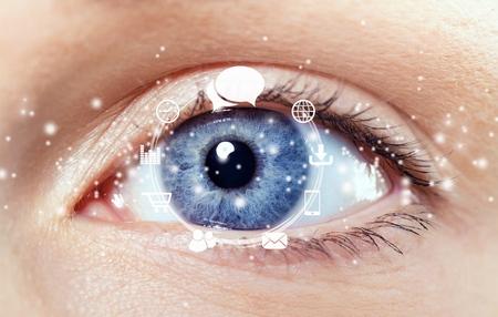eye sight: Cataract.