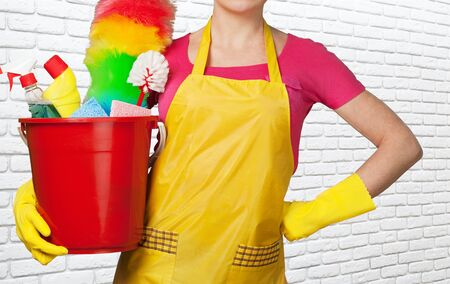 stereotypical: Cleaning. Stock Photo