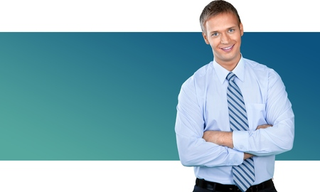 only adult: Businessman. Stock Photo
