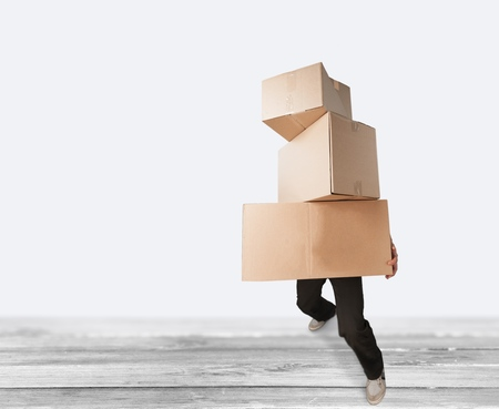 over burdened: Box. Stock Photo