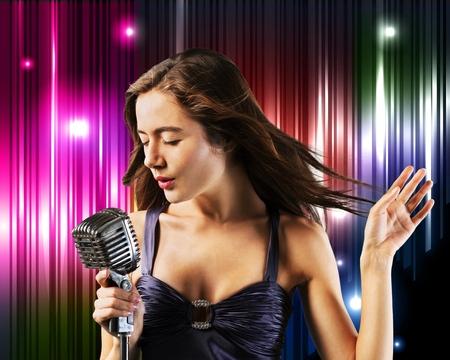 using voice: Karaoke.