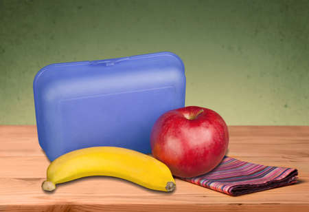 three objects: Lunch Box. Stock Photo