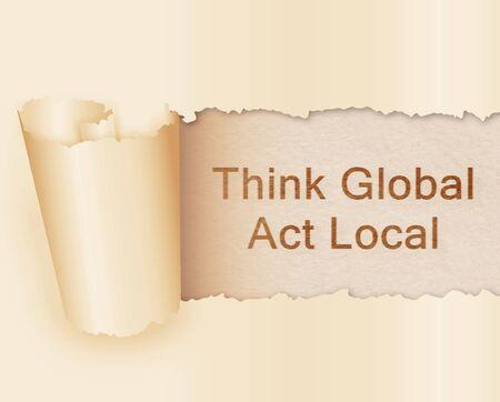 globally: Globally. Stock Photo