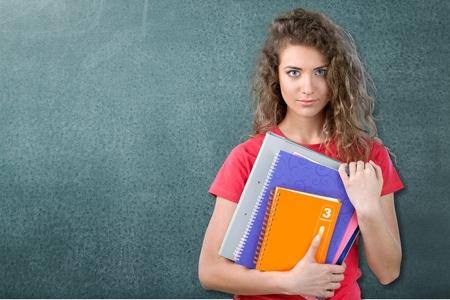 女子学生。