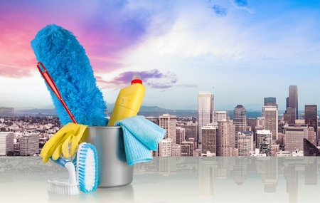cleaning business: Cleaning. Stock Photo
