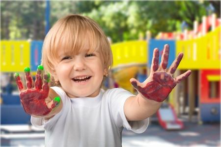 乳幼児: 幼稚園。 写真素材