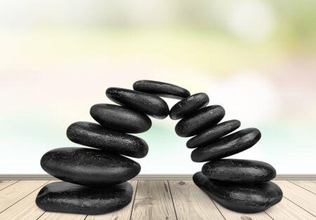 black stones: Stone. Stock Photo