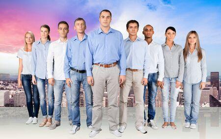 personas de pie: Grupo De Personas.