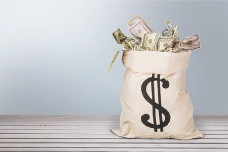 お金の袋。 写真素材