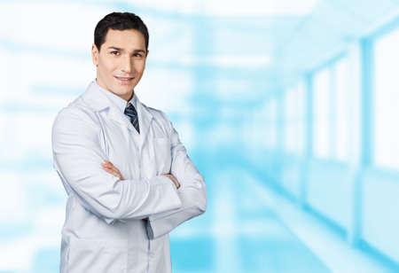 bata blanca: Doctor.  Foto de archivo