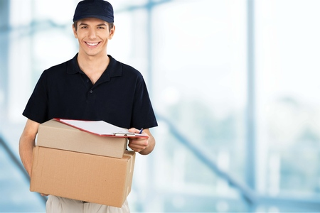 12 oclock: Delivering. Stock Photo