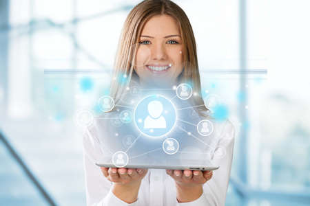 human relations: Businesswoman. Stock Photo