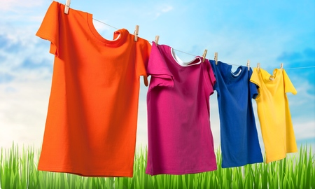 clean clothes: Clothing. Stock Photo