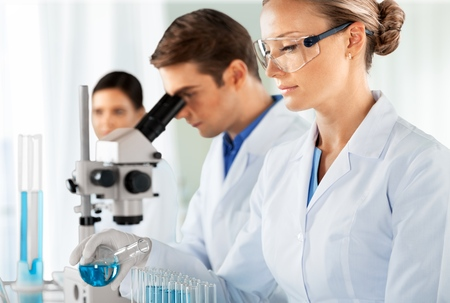 biochemist: Laboratory.