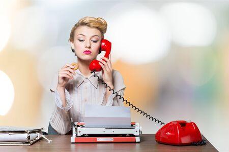 Office women: Secretary. Stock Photo