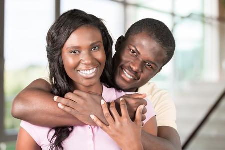 black couple: Couple. Stock Photo