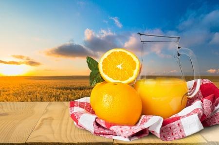 juice glass: Juice. Stock Photo