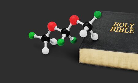 theology: Science. Stock Photo