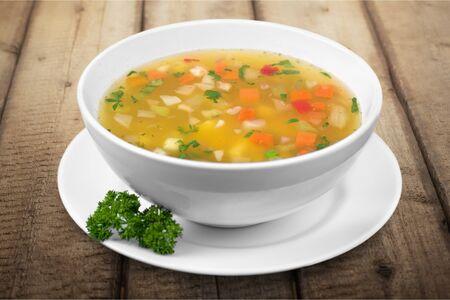 soup bowl: Soup. Stock Photo