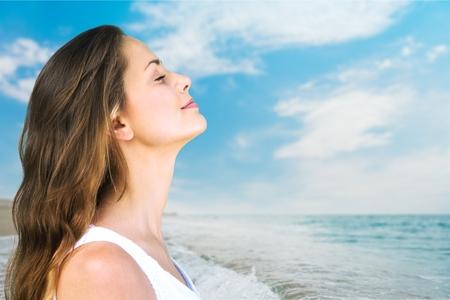 breathe: Breathe. Stock Photo