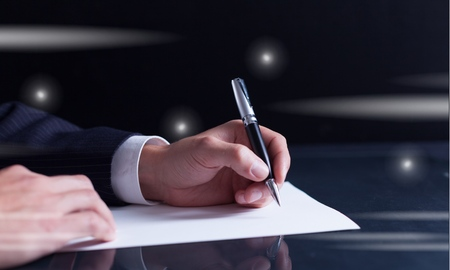 write a letter: Lawyer. Stock Photo