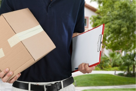 Delivering. Stock Photo