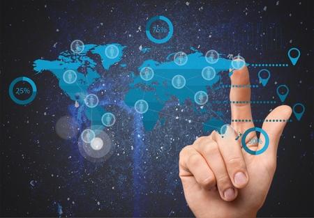 human hand: Cloud Computing. Stock Photo