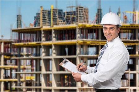 engineering clipboard: Engineer. Stock Photo
