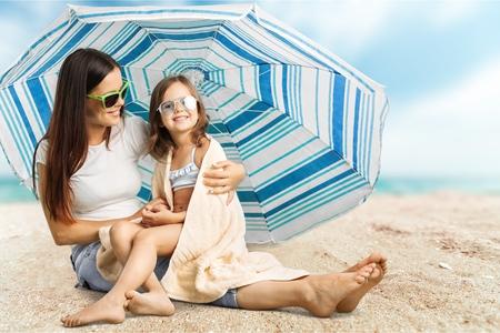 sun umbrella: Sunscreen. Stock Photo