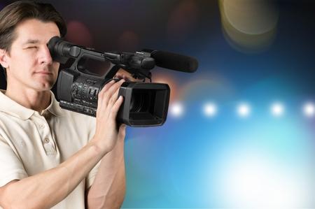 film crew: Film Crew. Stock Photo