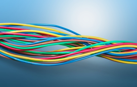 multicore: Wired. Stock Photo