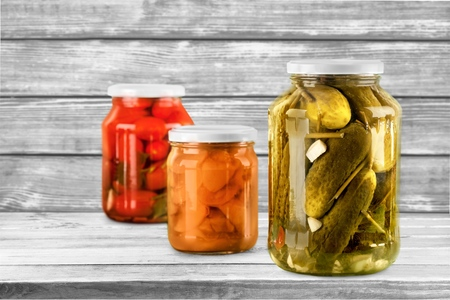airtight: Canning. Stock Photo