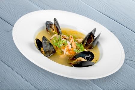 prepared shellfish: Fish Stew. Stock Photo