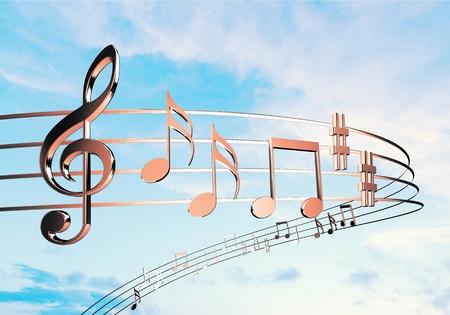 Muziek. Stockfoto