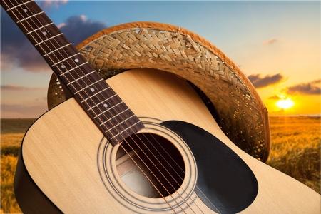 国と西洋の音楽。 写真素材