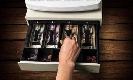 Cash register. Standard-Bild