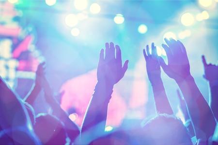 Popular music concert. Stock Photo
