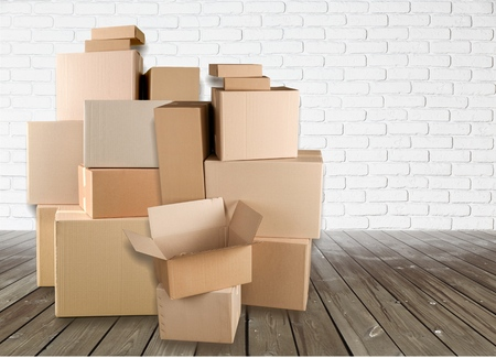 removals: Room. Stock Photo