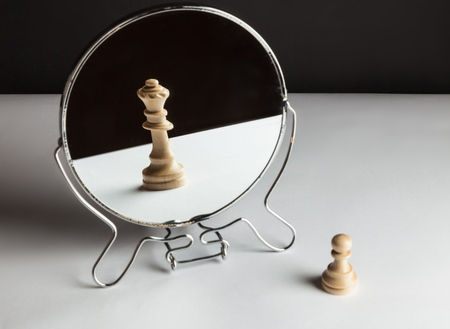 Chess in mirror.
